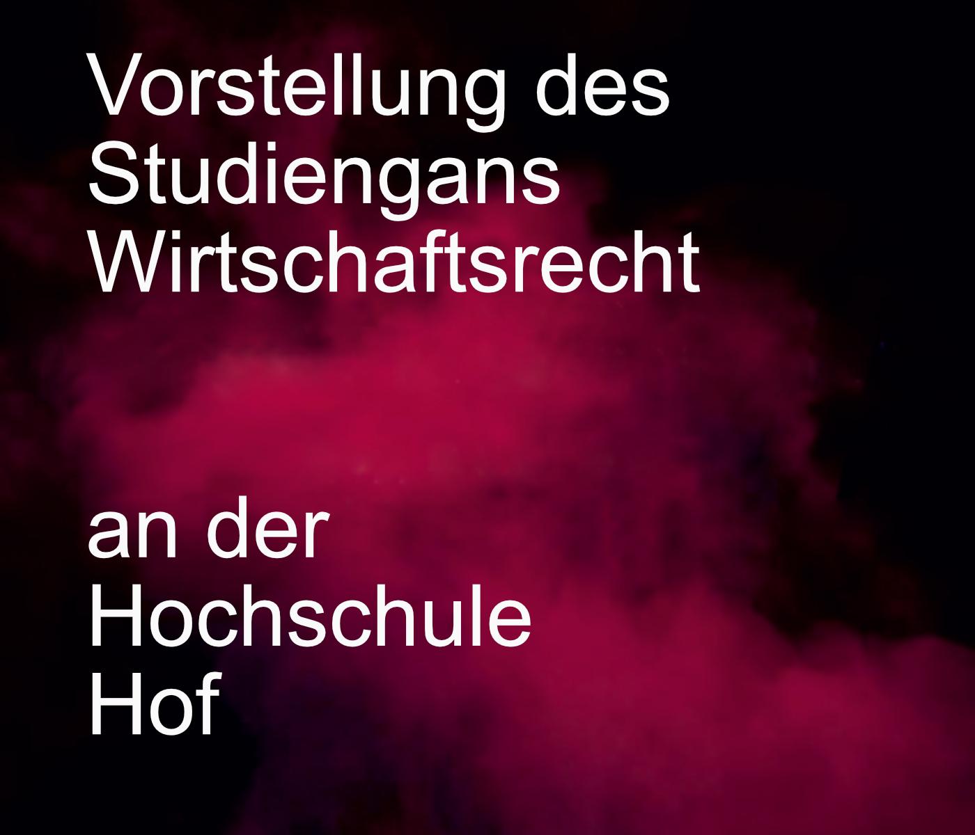 Episodenbild_01_Vorstellung Wirtschaftsrecht an der Hochschule Hof