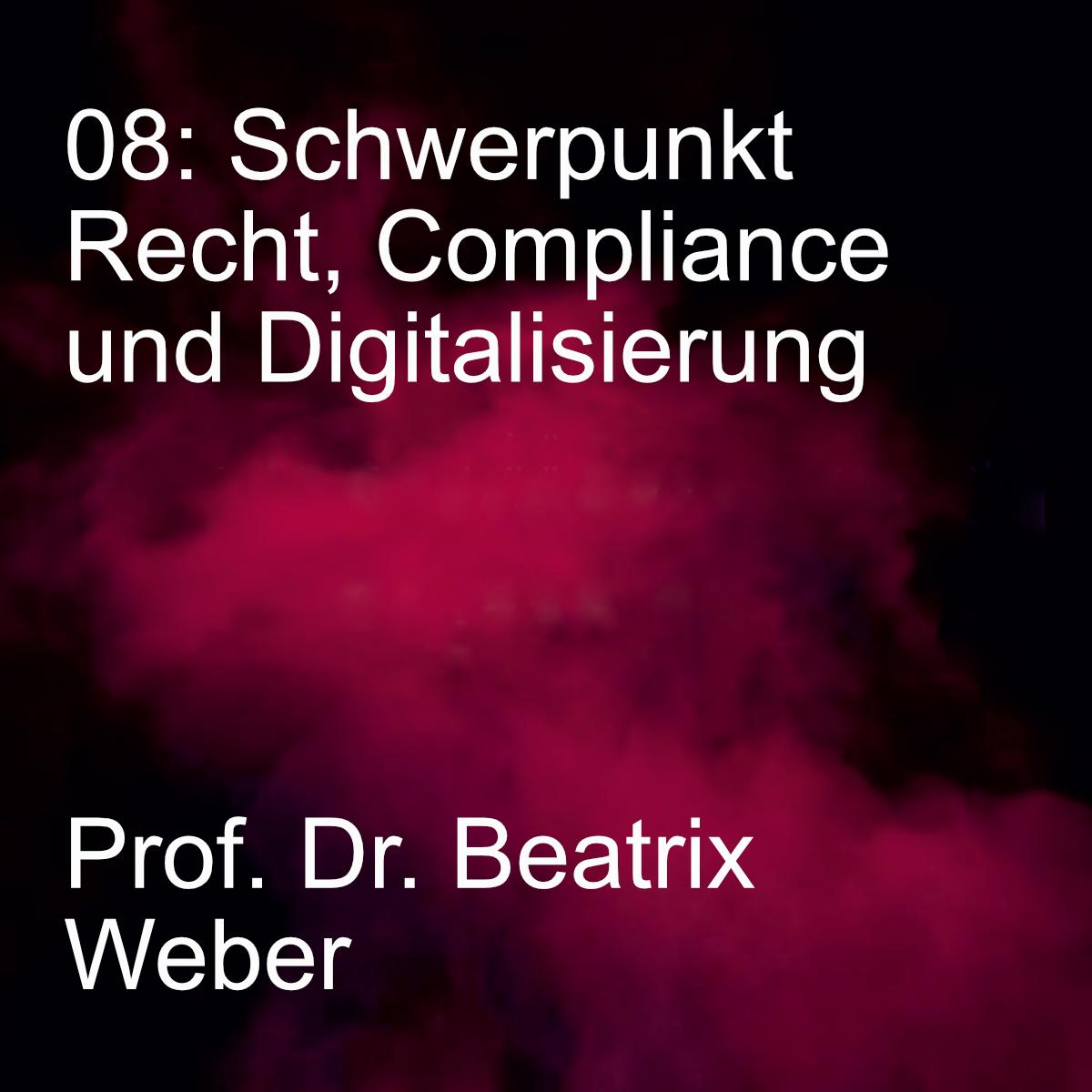 Wirtschaftsrecht Schwerpunkt Recht,, Compliance und Digitalisierung